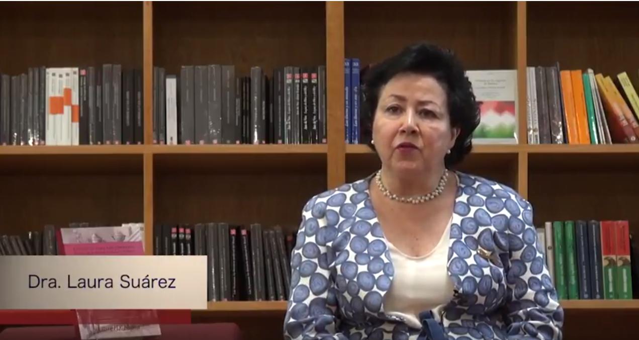 """Conoce a nuestros autores. """"Estantes para los impresos"""". Dra. Laura Suárez."""